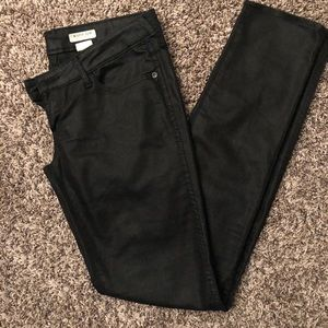 H & M Super SQIN Shiny Black Pants